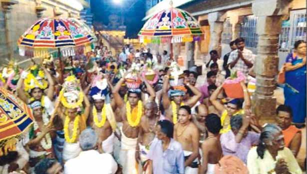 Image result for thirunallar kumbabishekam