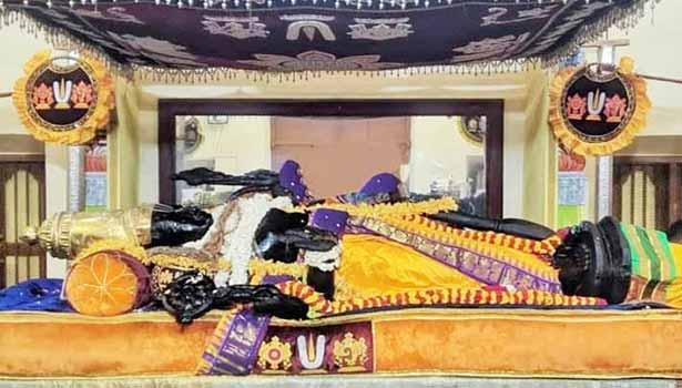 அத்தி வரதர் வைபவத்தின் 24ம் நாளாகிய இன்று எம்பெருமான் மாம்பழநிற பட்டாடை அணிந்து பக்தர்களுக்கு அருள் பாலித்தார்