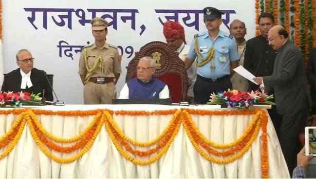 ராஜஸ்தான் ஆளுனராக கல்ராஜ் மிஸ்ரா பதவியேற்றார்