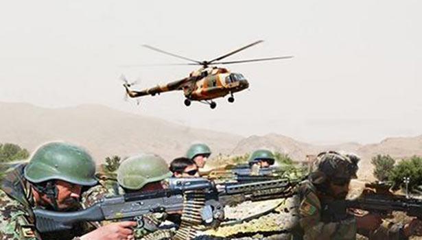 ராணுவ வீரர்களுக்கு பாதுகாப்பாக போர் விமானம்