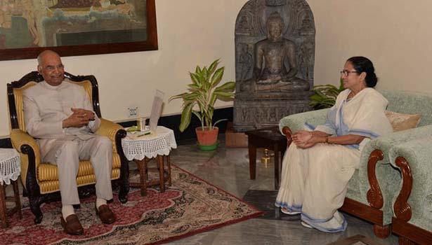 ராம்நாத் கோவிந்த் மற்றும் மம்தா பானர்ஜி சந்திப்பு