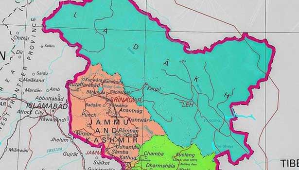 ஜம்மு-காஷ்மீர், லடாக் வரைப்படம்