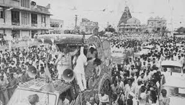1990-ம் ஆண்டு அத்வானி நடத்திய ரத யாத்திரை