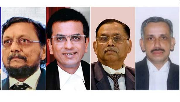 எஸ்.ஏ.போப்டே, நீதிபதிகள் டி.ஒய்.சந்திரசூட், அசோக் பூஷண், அப்துல் நசீர்