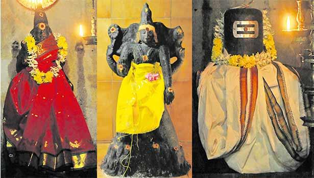 அகிலாண்டேஸ்வரி, நவக்கிரக பீடத்தில் தட்சிணாமூர்த்தி, மத்தியஸ்வரர்