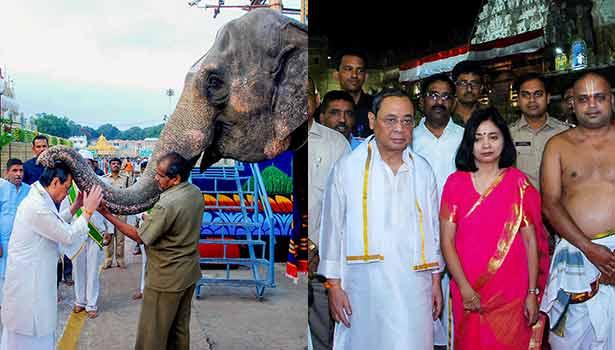 ரஞ்சன் கோகாய் மற்றும் அவரது மனைவி ரூபாஞ்சலி