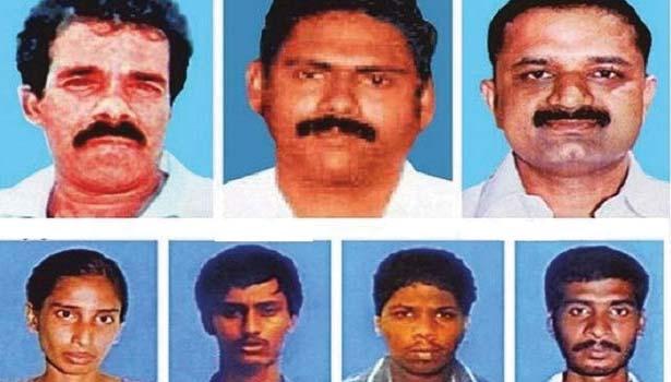 ராஜீவ் காந்தி கொலை வழக்கில் கைதான 7 பேர்