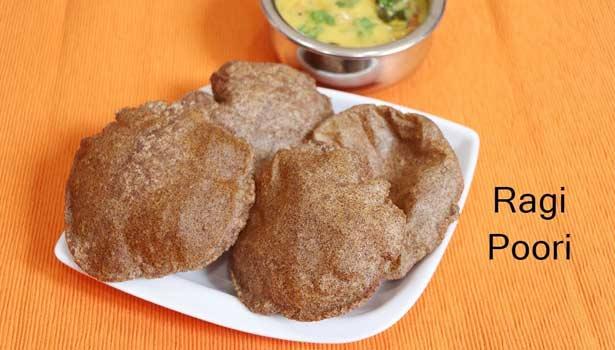கேழ்வரகு மசாலா பூரி