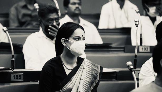 தலைவி படப்பிடிப்பில் கங்கனா ரணாவத்