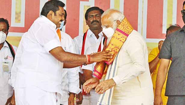 பிரதமர் நரேந்திர மோடி- முதல்வர் பழனிசாமி