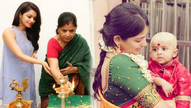 தாயாருடன் ஜனனி, மகனுடன் விஜயலட்சுமி
