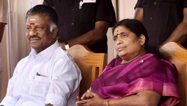 ஓ பன்னீர்செல்வம்- விஜயலட்சுமி